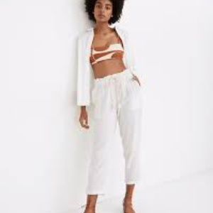 Madewell Beach Cover Up 100% Cotton Beach Pants